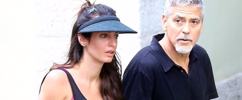 George and Amal Clooney Look WAY Too Cute Together in Their Little Tennis Outfits