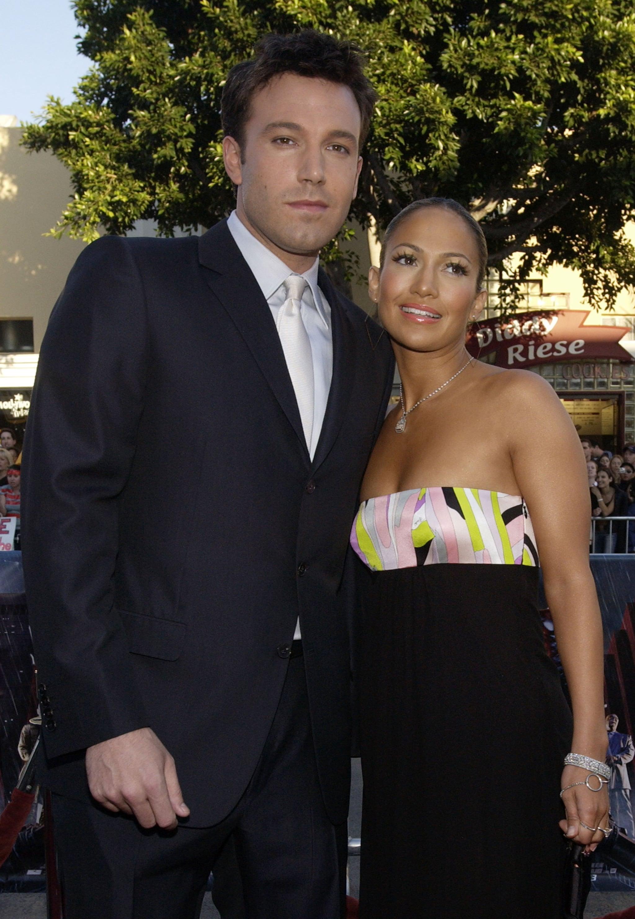 Ben Affleck & Jennifer Lopez during Daredevil Premiere - Arrivals at Mann Village Theatre in Westwood, CA, United States. (Photo by Chris Weeks/FilmMagic)