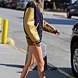 Taylor Swift headed to a car in NYC.