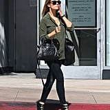 Lauren Conrad stepped out with two handbags in LA.
