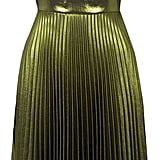 Topshop Metallic Pleated Midi Dress  ($160)