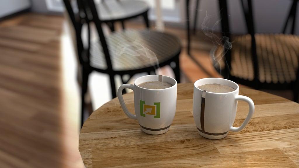Invite a friend over for coffee talk.