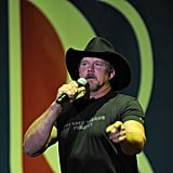 Trace Adkins drummed up support for candidate Mitt Romney in Virginia.