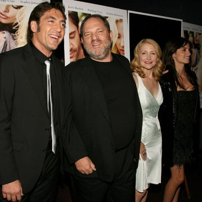 Javier Barden, Patricia Clarkson, Penelope Cruz and Harvey Weinstein at Vicky Cristina Barcelona Screening