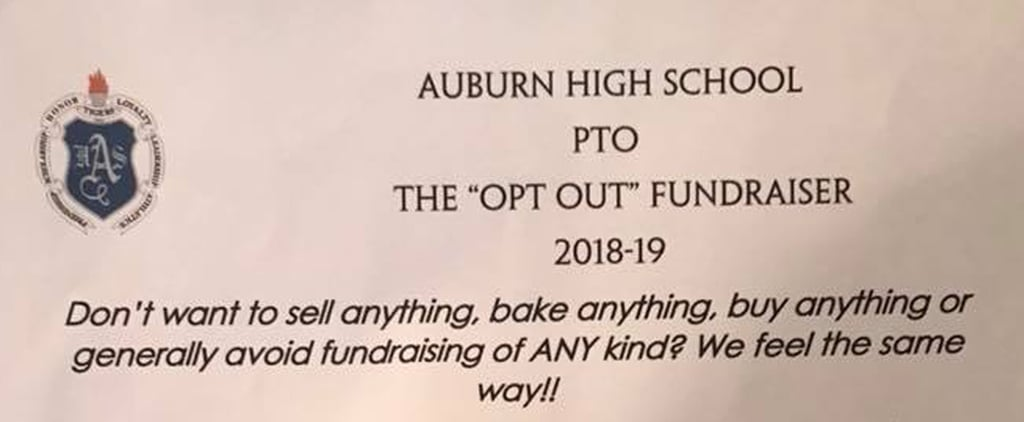 Funny PTO Opt-Out Fundraiser Letter