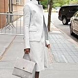 Lupita Nyong'o in Bright-Orange Pumps in New York