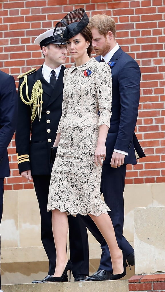 Kate Wore a Contrasting Lace Dress