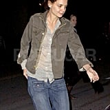 Katie Holmes walked back to her car after hanging with friends in LA.