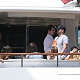 Leonardo DiCaprio and Jonah Hill on a Boat in Sydney