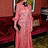 In September, Alexa looked positively glowing in a pink Erdem dress.