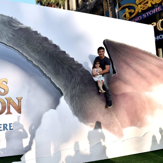 Mario Lopez and Daughter at Pete's Dragon Premiere Pictures