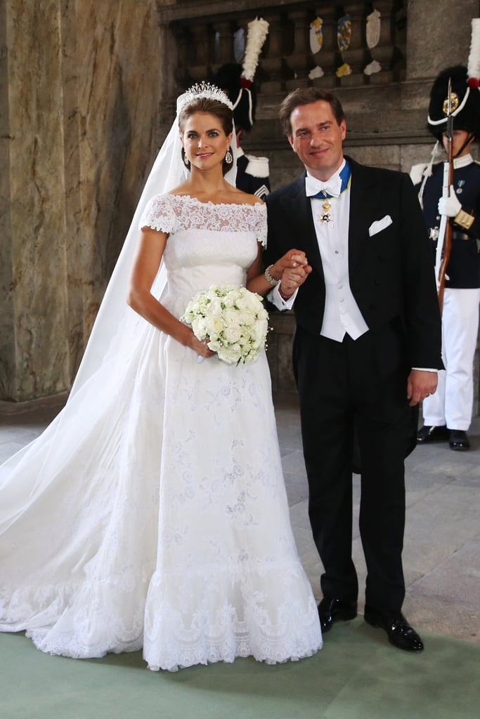 Princess Madeleine of Sweden and Christopher O'Neill posed after their wedding.