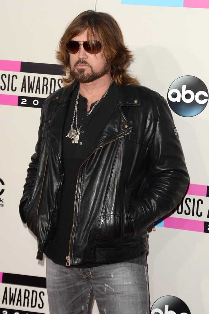 Billy Ray Cyrus got tough in leather.