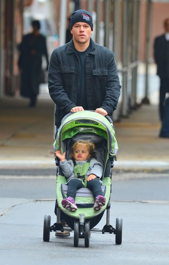 Matt Damon and Stella: Baby Jogger City Mini