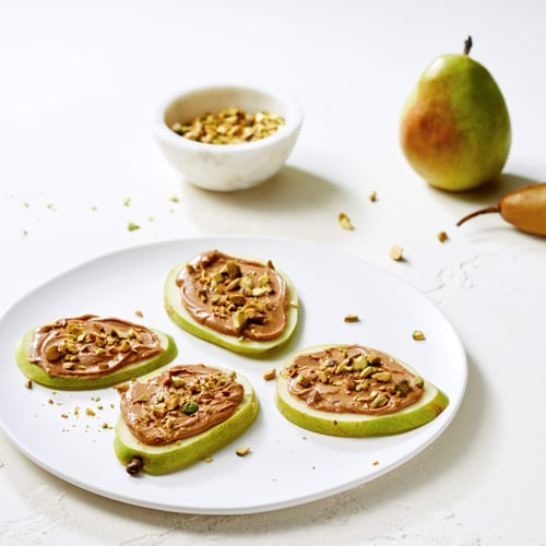 Snack: Pistachio-Crusted Pears