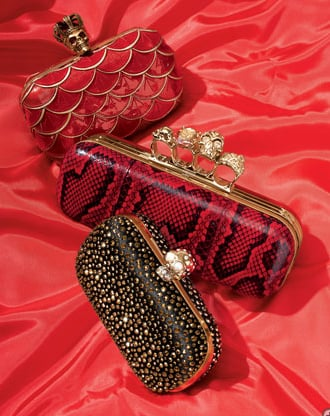 """These Alexander McQueen beauties are all are handcrafted with care in Italy.   <product href=""""http://www.neimanmarcus.com/store/catalog/prod.jhtml?cid=CBF11_-2YG6&icid=NMCDpage136A&r=cat21940732&rdesc=The%20Christmas%20Book&rparams=xpage%3D136"""">Alexander McQueen Queen Skull Box Clutch</product> ($2,265), <product href=""""http://www.neimanmarcus.com/store/catalog/prod.jhtml?cid=CBF11_-2YG6&icid=NMCDpage136A&r=cat21940732&rdesc=The%20Christmas%20Book&rparams=xpage%3D136"""">Alexander McQueen Queen Skull Box Clutch</product> ($2,265), <product href=""""http://www.neimanmarcus.com/store/catalog/prod.jhtml?cid=CBF11_-2YG6&icid=NMCDpage136A&r=cat21940732&rdesc=The%20Christmas%20Book&rparams=xpage%3D136"""">Alexander McQueen Queen Skull Box Clutch</product> ($2,265)</p>"""