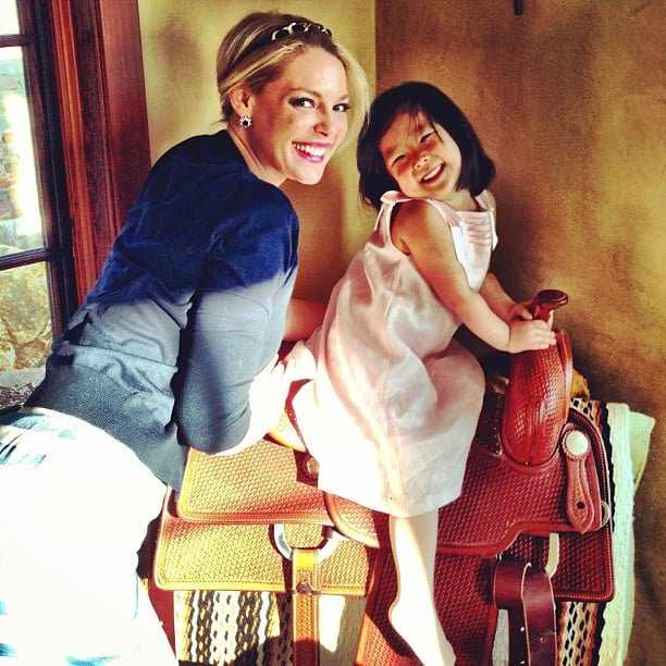 Katherine Heigl and her daughter Naleigh posed for this sweet snap. Source: Instagram user joshbkelley