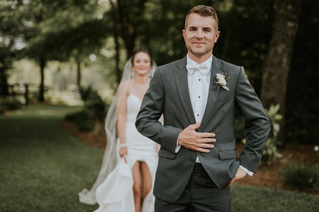 Haley and Drew's wedding was the definition of rustic elegance. The breathtaking barn reception featured a fountain and beautiful greenery, and the couple even flew off in a helicopter at the end. See the wedding here!