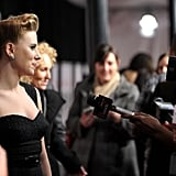 Scarlett Johansson took questions at the NYC premiere of We Bought a Zoo.