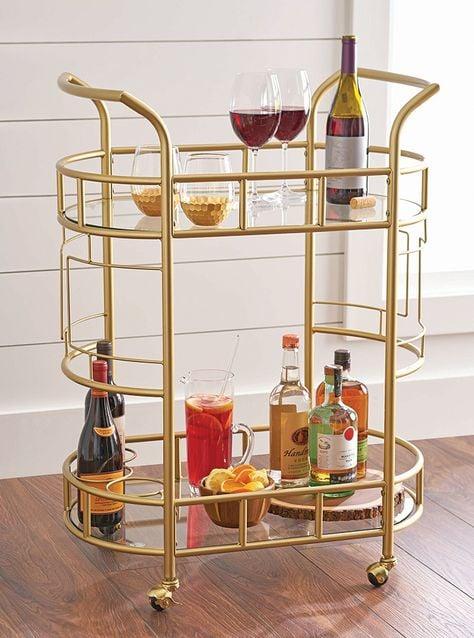 better homes gardens fitzgerald 2 tier bar cart best bar carts under 100 popsugar home. Black Bedroom Furniture Sets. Home Design Ideas
