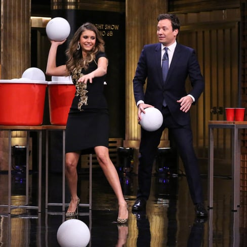 Nina Dobrev on Late Night With Jimmy Fallon 2014