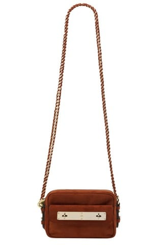 Mini Carter Camera Bag in Fox Brown Suede, $1,000