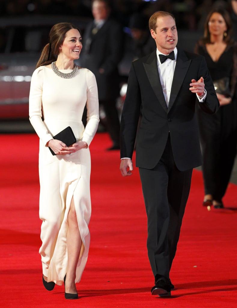 Wearing Roland Mouret at film screening in December 2013.