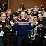James Franco hung out with various members of the press during an event for his movie I Am Michael at the Sundance Film Festival in Park City, UT.