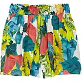 We'd wear these shorts with a slouchy white tee and denim button-down for a day at the park. Alice + Olivia Sunflower-Print Silk Blend Shorts ($200)