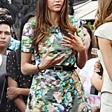 Nina Dobrev answered questions for Maria Menounos at The Grove.