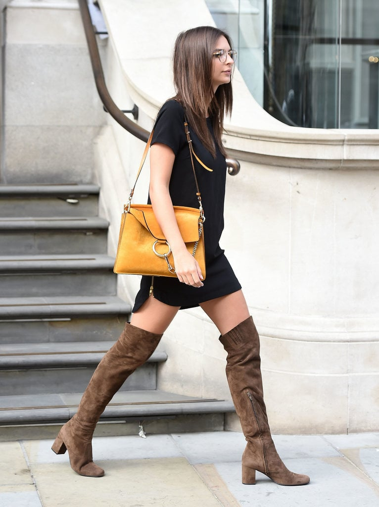 Knee-High Boots and a Black Dress | Kendall Jenner and Emily ...