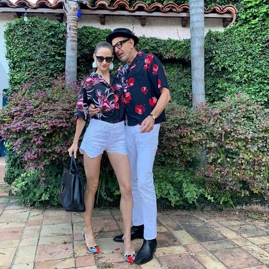 Jeff Goldblum and His Wife Wearing Matching Prada Shirts