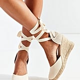 Soludos Linen Espadrille Tall Wedge Sandals