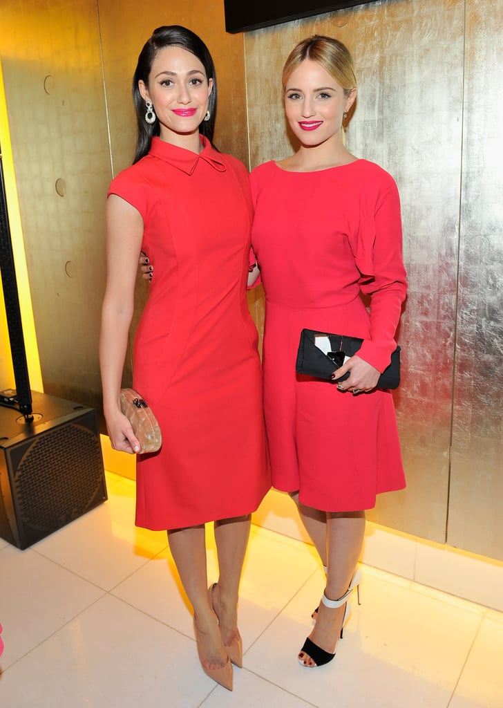 Emmy Rossum and Dianna Agron at Giorgio Armani Celebrates Martin Scorsese and Paolo Sorrentino