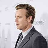Ewan McGregor hit the press line.