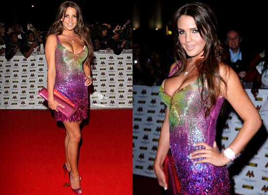Danielle Lloyd at the 2008 Mobo Awards