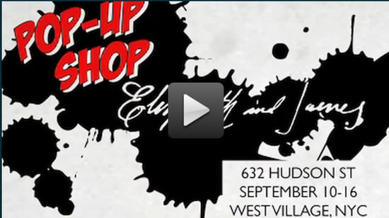 Video Preview of Mary-Kate and Ashley Olsen's FNO Elizabeth and James Pop-Up Shop