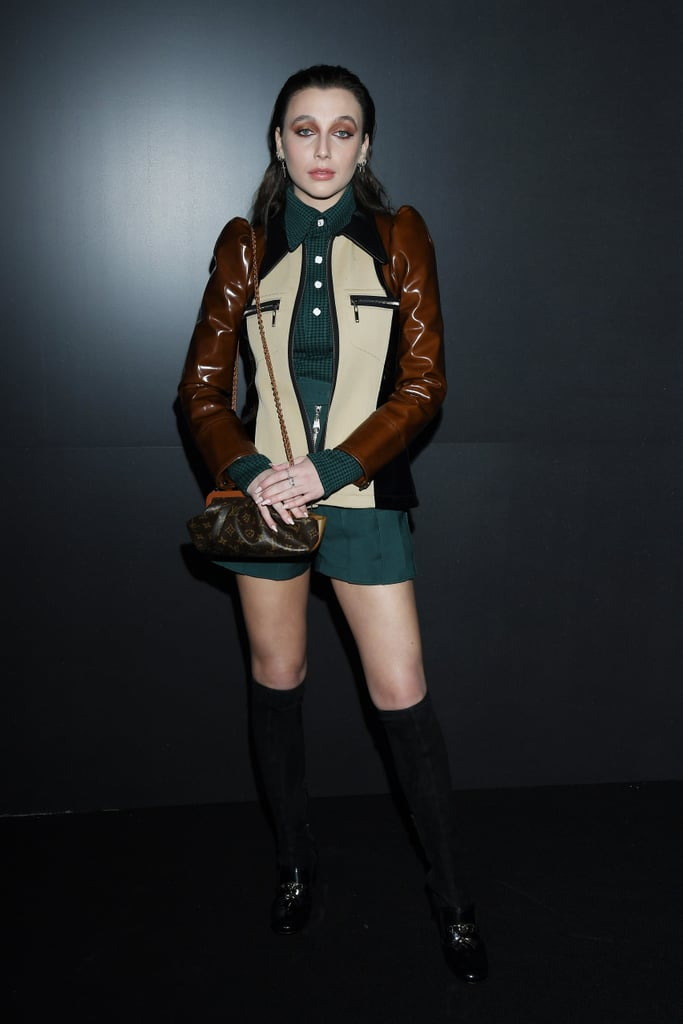 Emma Chamberlain at the Louis Vuitton Fall 2020 Show