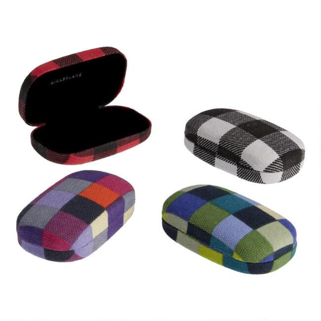 Small Kikkerland Checkerboard Fabric Travel Case Set of Four