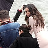 Mila Kunis Strikes a Sexy Pose For Christian Dior in Paris