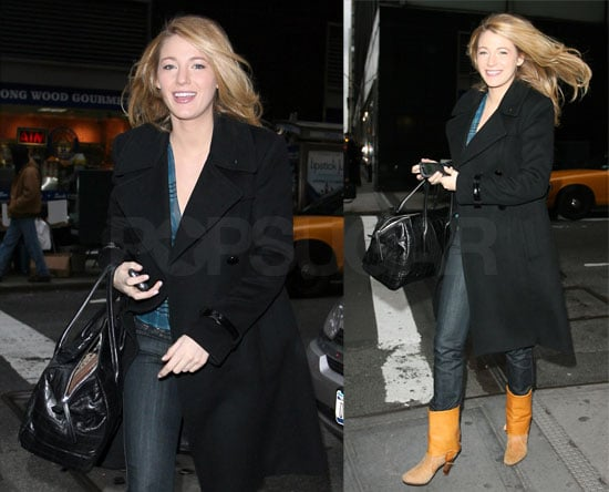 Blake Lively of Gossip Girl Out in New York City on January 17 2008