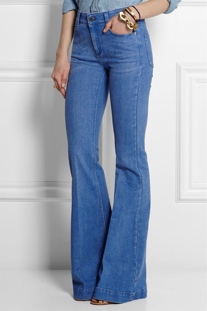 Stella McCartney High-Rise Flared Jeans, $387.46