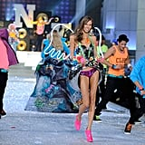 Karlie Kloss in neon wings.