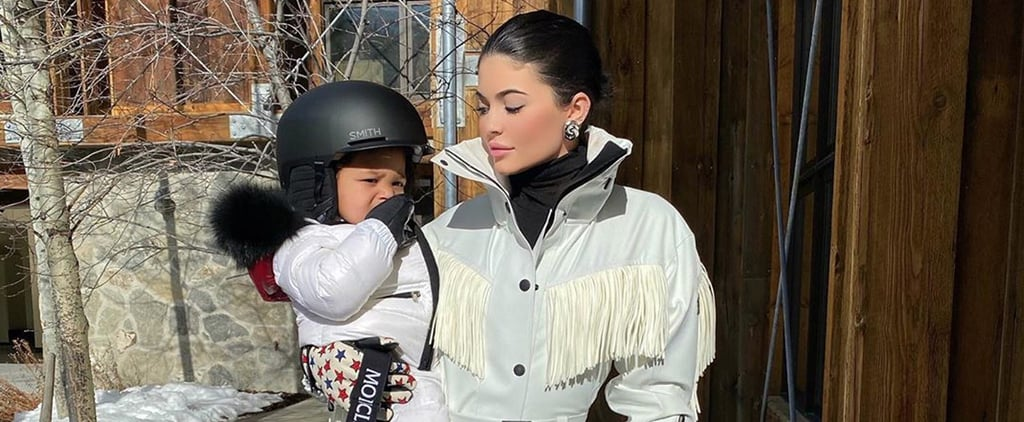 See Stormi Snowboard For the First Time With Kylie Jenner
