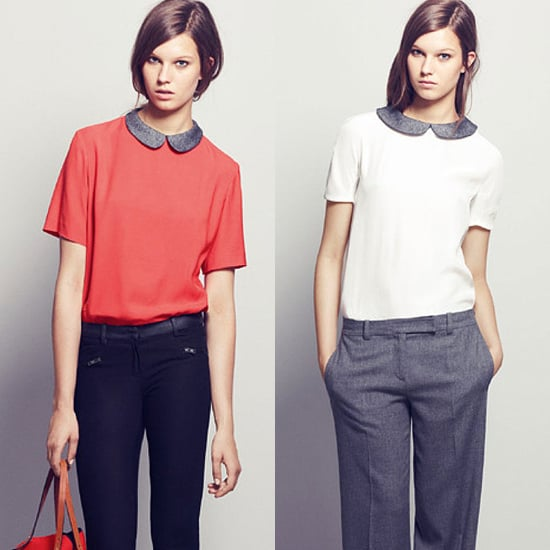 Two blouses on offer from Maje for Fall 2011.