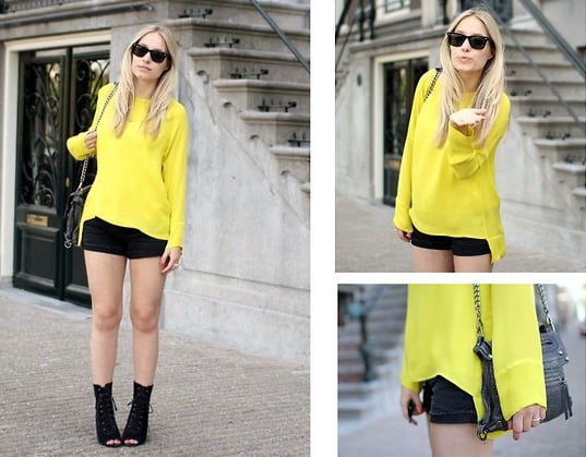 Lime green offsets edgier pieces with a touch of Spring brightness.  Photo courtesy of Lookbook.nu