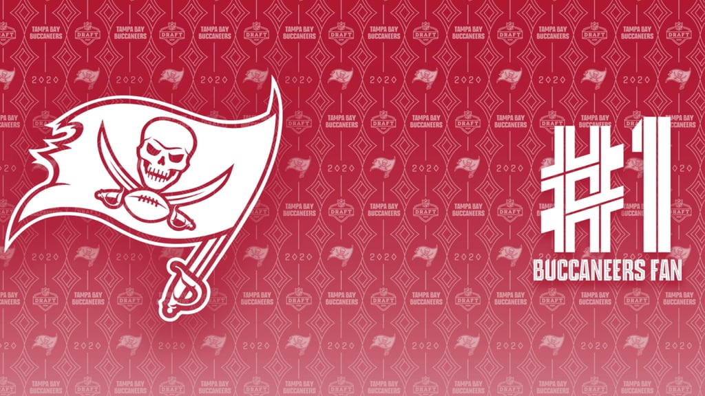 Tampa Bay Buccaneers Number One Fan Zoom Background