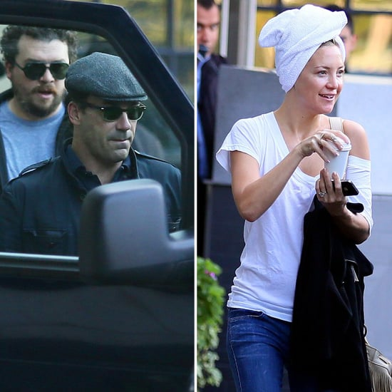 Wet-Headed Kate Hudson Rushes to Catch a Ride With Jon Hamm