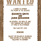 Western Wedding Invitation