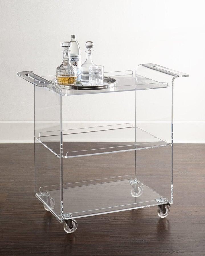Horchow Nicole Acrylic Bar Cart ($999)